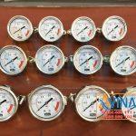 Đồng hồ áp 10kg/cm2 - 150PSI chân sau lắp bảng điều khiển