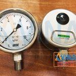 Đồng hồ áp dầu 150PSI mặt D100mm chân ren 1/2