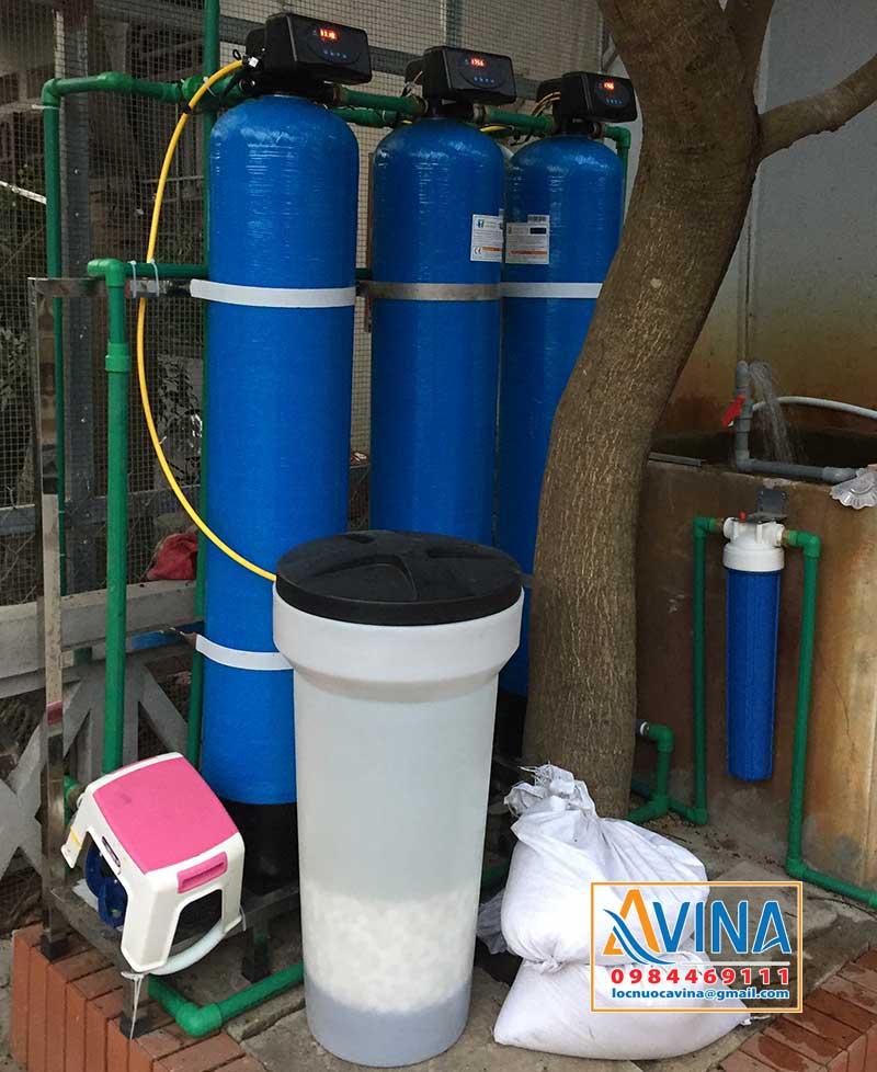 Hệ thống làm mềm nước hoàn nguyên bằng muối tinh khiết