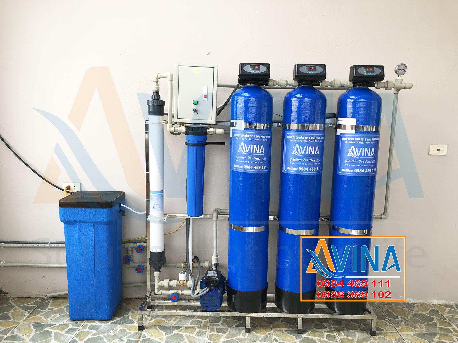 Hệ thống lọc sinh hoạt UF công suất 1.000L/H tự động sục xả vật liệu và màng UF