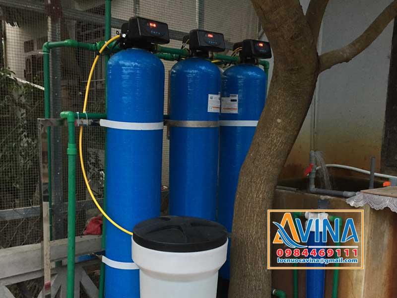 Hệ thống lọc nước sinh hoạt 1M3/H lắp đặt ngoài trời