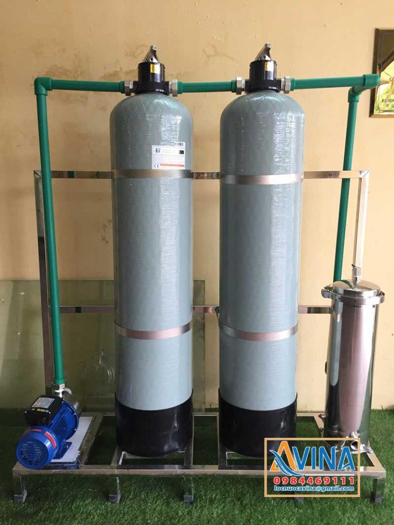 Hệ thống lọc sinh hoạt sử dụng 2 cột lọc công suất 2M3/H