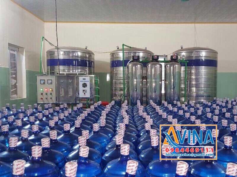 Hệ thống lọc tinh khiết 1.000L/H sản xuất nước uống đóng bình