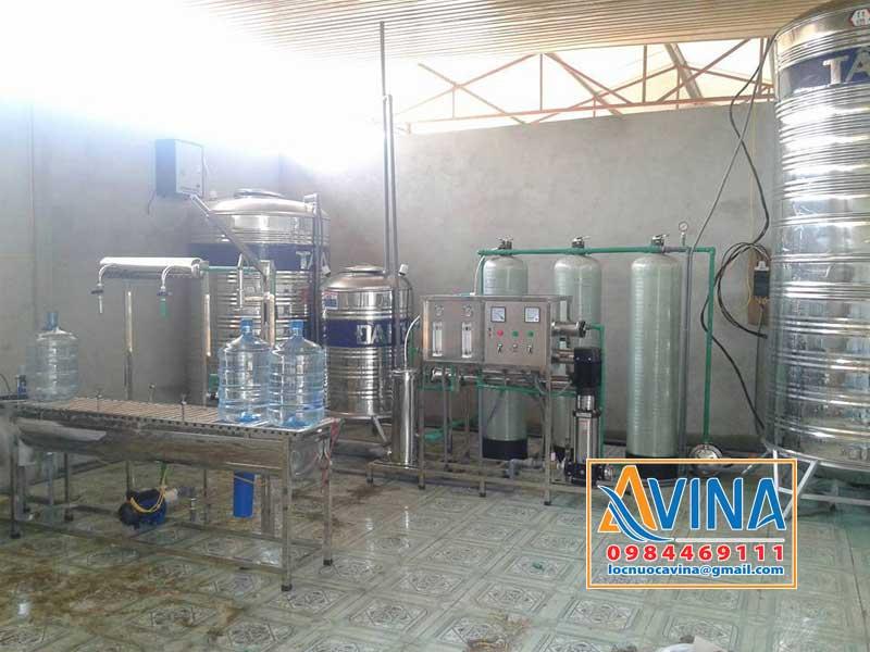 Sản xuất nước đóng bình từ hệ thống lọc nước tinh khiết 750L/H