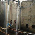 Ejector trộn khí lắp đặt cho bể lọc nước giếng khoan khử Sắt