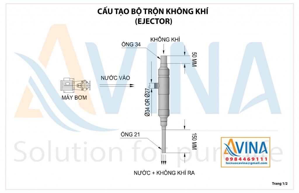 Hướng dẫn lắp đặt ejector trộn khí oxy