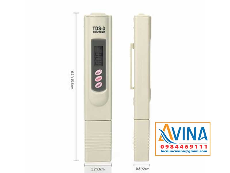 Kích thước bút đo TDS