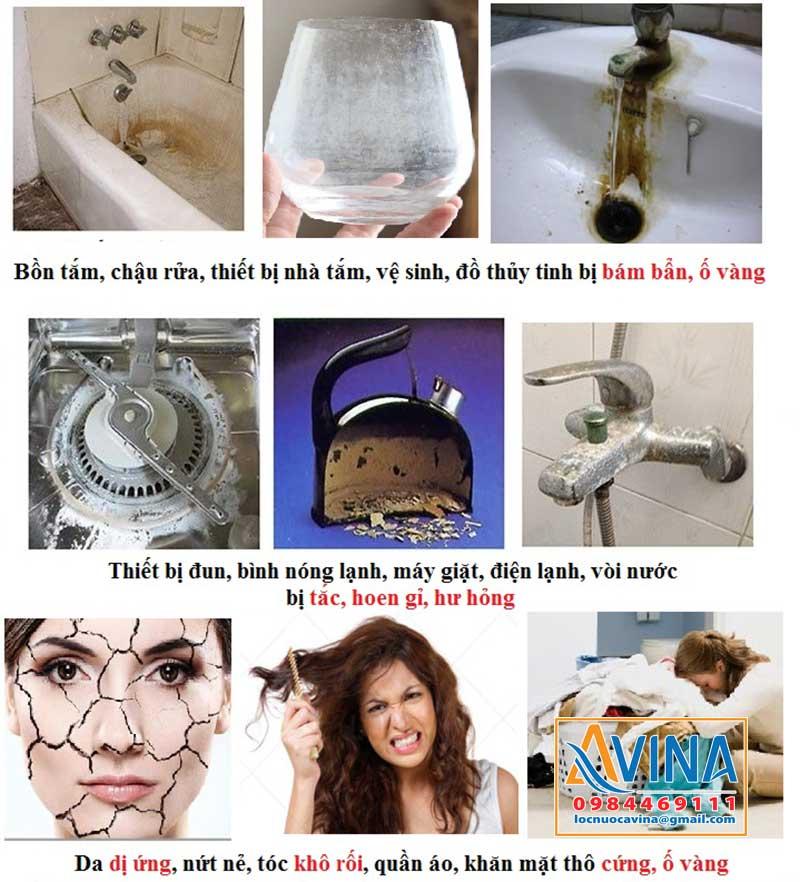 Tác hại của nước cứng nhiễm canxi, magie
