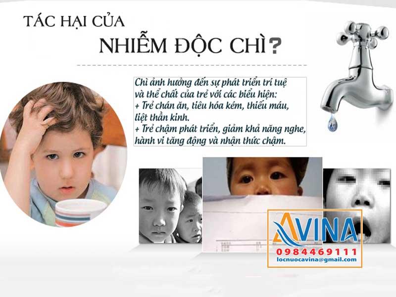 Tác hại của nước nhiễm chì đối với trẻ em