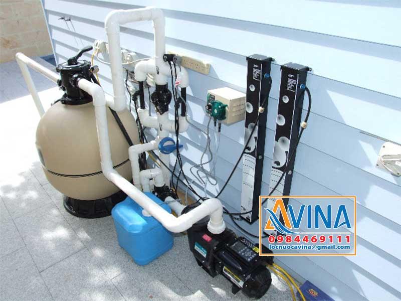 Thiết bị lọc của hệ thống xử lý nước bể bơi tuần hoàn